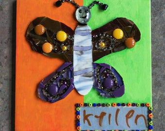 Custom mosaic art from child's drawing
