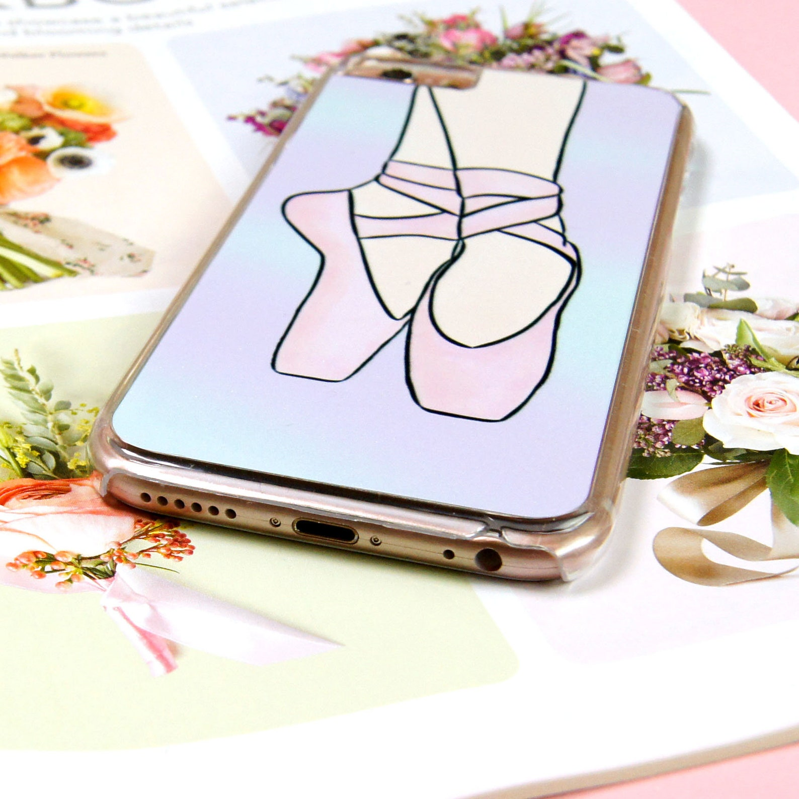 ballet pumps ballerina shoes custom made iphone 5/5s/se 6/6s 7 8 plus + x samsung s6 s7 s7 edge s8 s9 note 8 phone case/cover