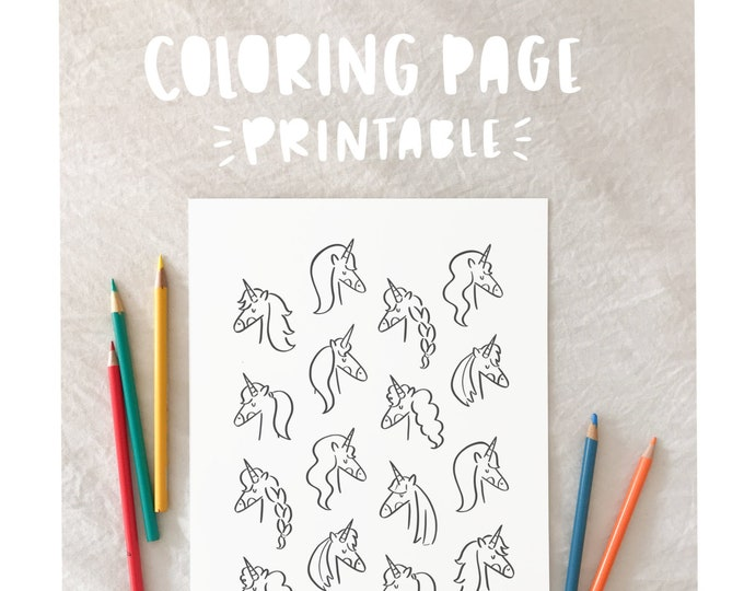 Unicorn Coloring Page - PRINTABLE