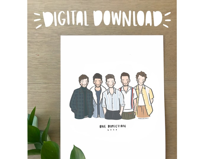 One Direction 2020 Illustration Print - Printable