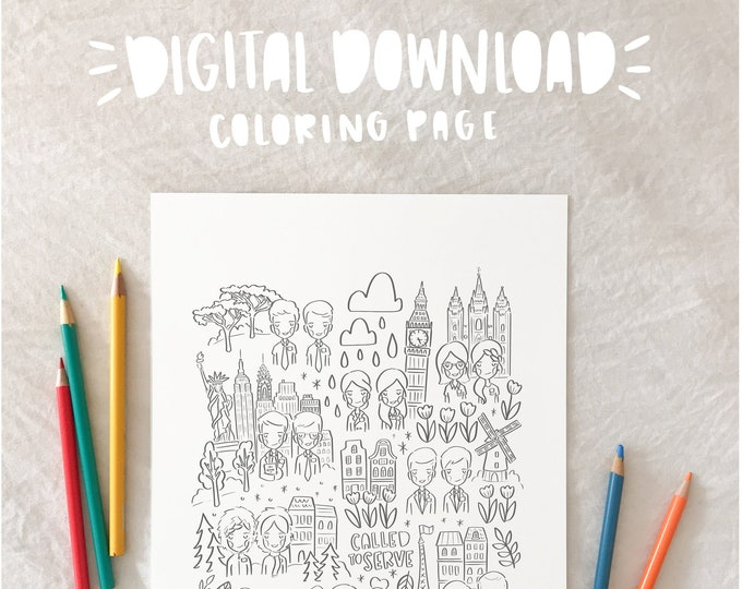 Called to Serve- LDS Missionary Coloring Page - PRINTABLE
