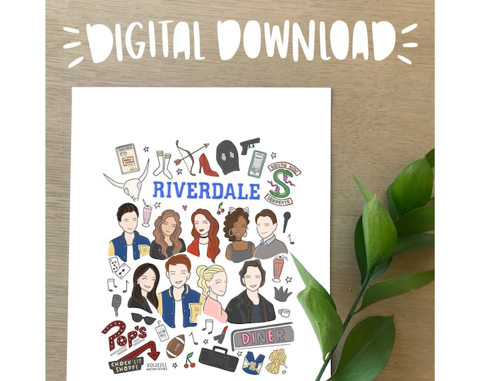 Riverdale Illustration Print- DIGITAL DOWNLOAD