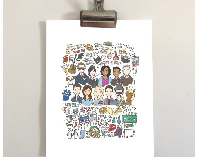 Parks & Recreation Illustration Print