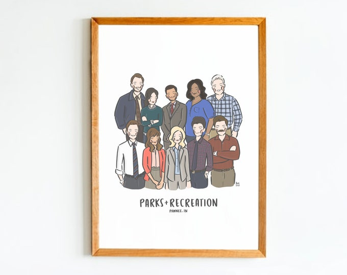 Parks & Recreation Cast Wall Art Print
