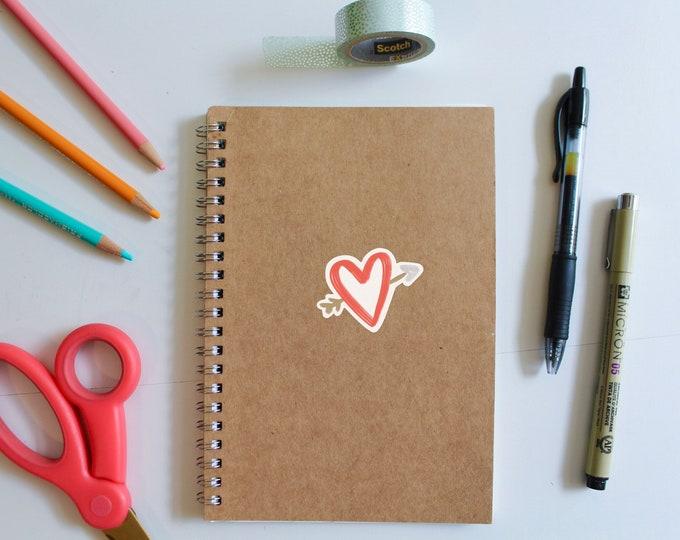 Heart with Arrow Sticker