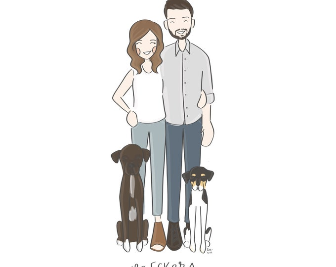 Custom Digital Family Portrait