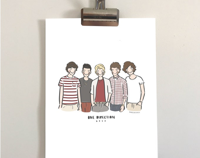 One Direction 2010 Illustration Print