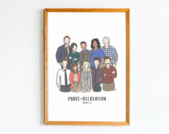 Parks & Recreation Cast Wall Art Print