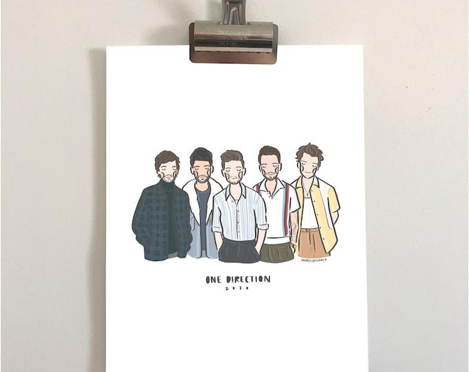 One Direction 2020 Illustration Print