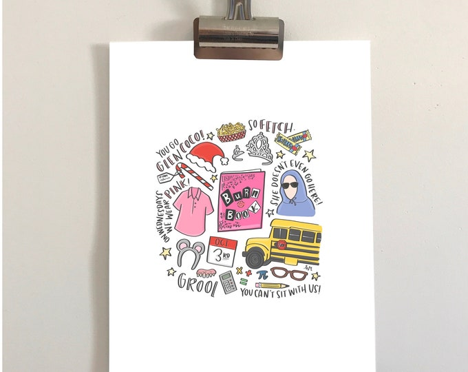 Mean Girls Illustration Print
