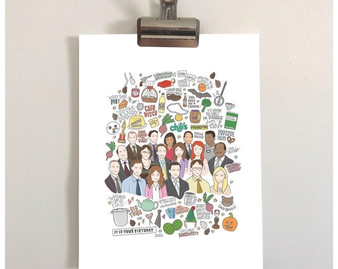 The Office Illustration Print