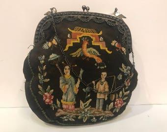Asian Petit Point Bag
