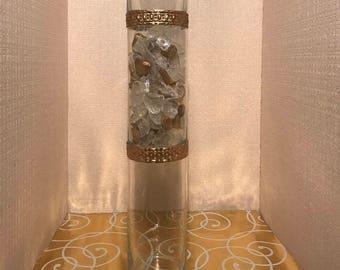 Elegant Gold Centerpiece Tall Wedding Centerpiece Gold Vase Tall Vase Centerpiece Vase Table Decor Wedding Decor Party Decor