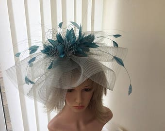 c024d52137752 Chocolate brown   gold feather hatinator weddings