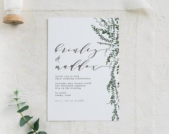Simple Wedding Invitations Etsy