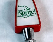 1980 39 s Here 39 s Sprite Post-Mix Post-Mix Soda Fountain Tap Handle Knob - Tombstone - Double-Sided