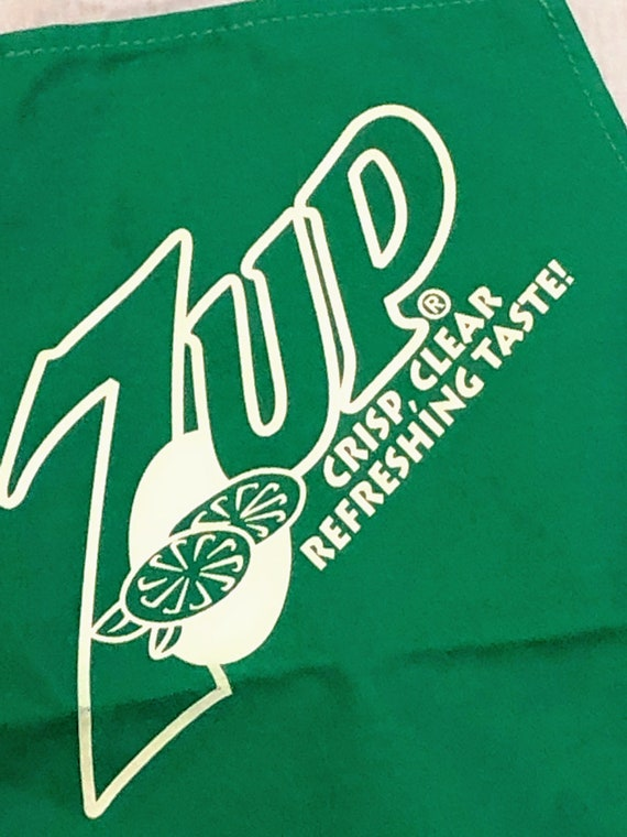 1990/'s 7-UP Apron by Fabriko Made in USA Crisp NOS Clear Refreshing Taste! Unused