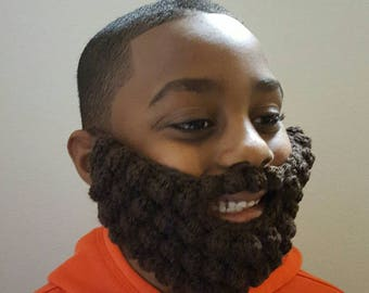 Crochet beard, fake beard, kids beard, yarn beard, bubble beard, lumberjack, cosplay beard, mustache, baby beard, beard hat, child beard
