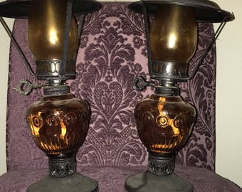 Set of two antique lanterns