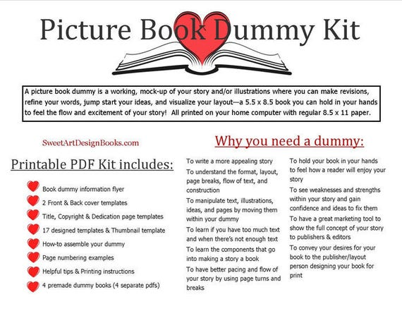 Printable Picture Book Dummy Kit | Etsy