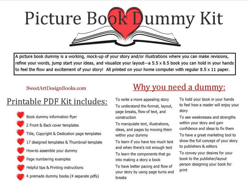 Printable Picture Book Dummy Kit image 0