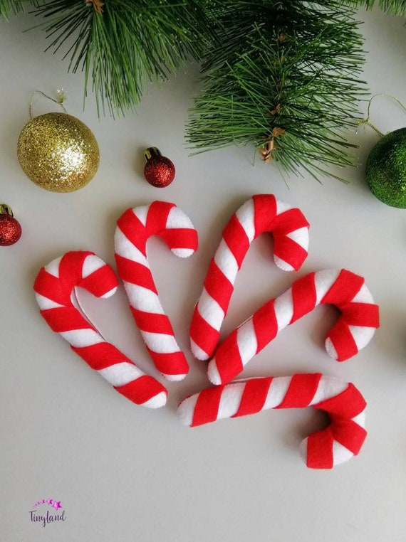cute candy cane christmas decorations christmas tree ornaments etsy cute candy cane christmas decorations christmas tree ornaments xmas party decor christmas gifts felt christmas ornaments