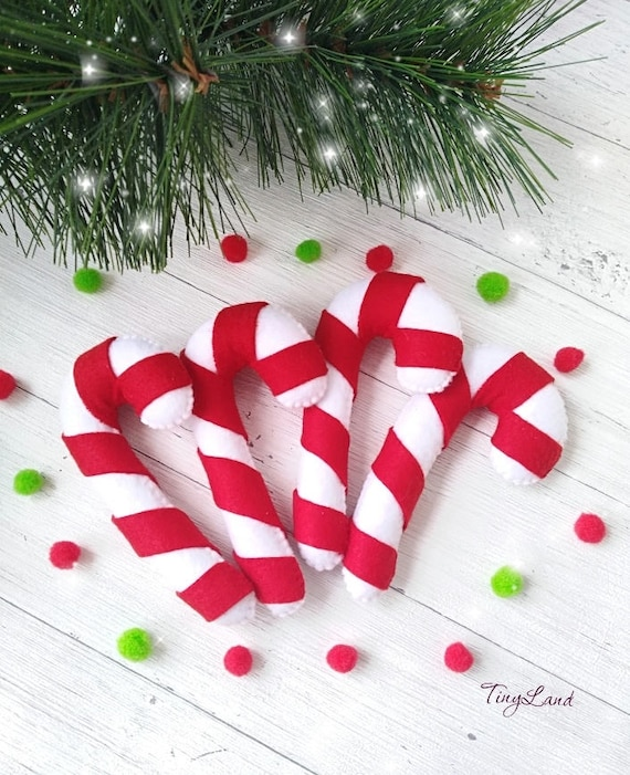 Candy Cane Christmas Tree.Cute Candy Cane Christmas Decorations Christmas Tree Ornaments Xmas Party Decor Christmas Gifts Felt Christmas Ornaments