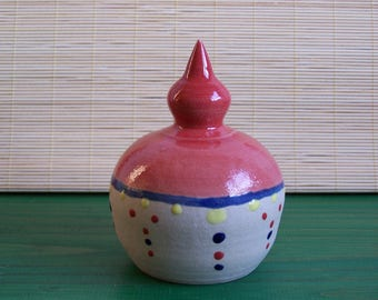 """Large ceramic bell """"Earth and jewelry"""""""