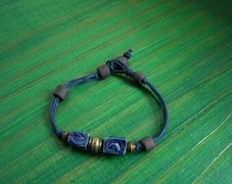 "Bracelet ""Earth and jewelry"" artisan ceramic beads"