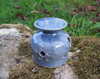 """Ceramic incense burner """"Earth and jewelry"""""""