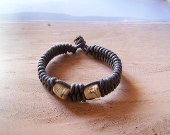 """""""Earth and jewelry"""" ethnic style ceramic braided bracelet"""