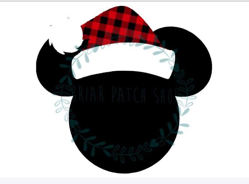 bfefbe0bce005 Mickey Santa hat iron on