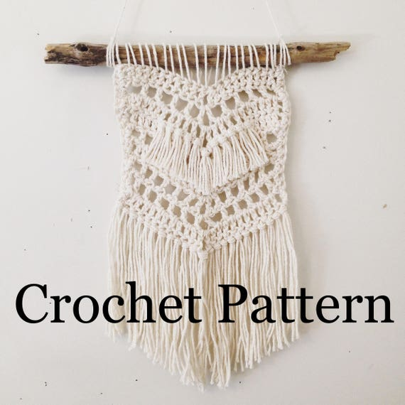 Beach Boho Wall Hanging Crochet Pattern Crochet Wall
