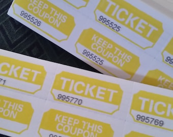 25 red 2 part tickets raffle tickets vintage paper etsy