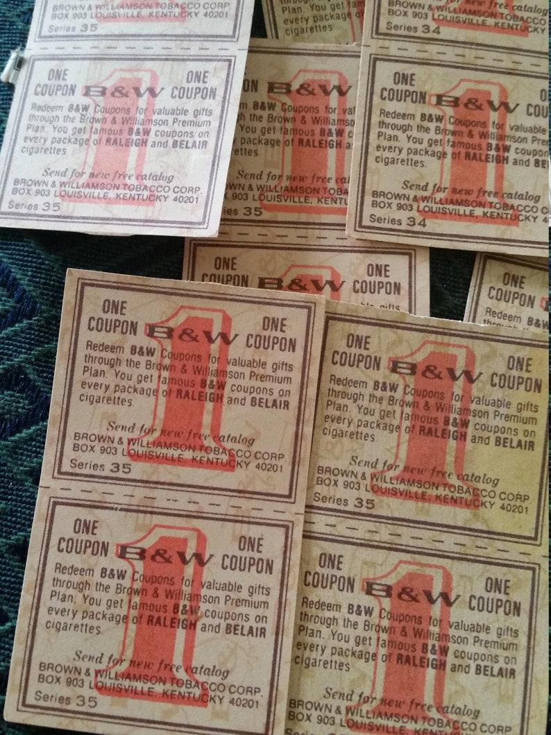 Vintage Ephemera 24 pc*Vintage B & W Cigarette Coupons * Orange 1 Saving  Stamps* Vintage Paper Ephemera