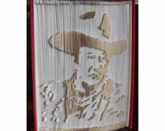 John Wayne Memorialized in a Beautiful Book Folding - The Duke in Classic Cowboy Hat