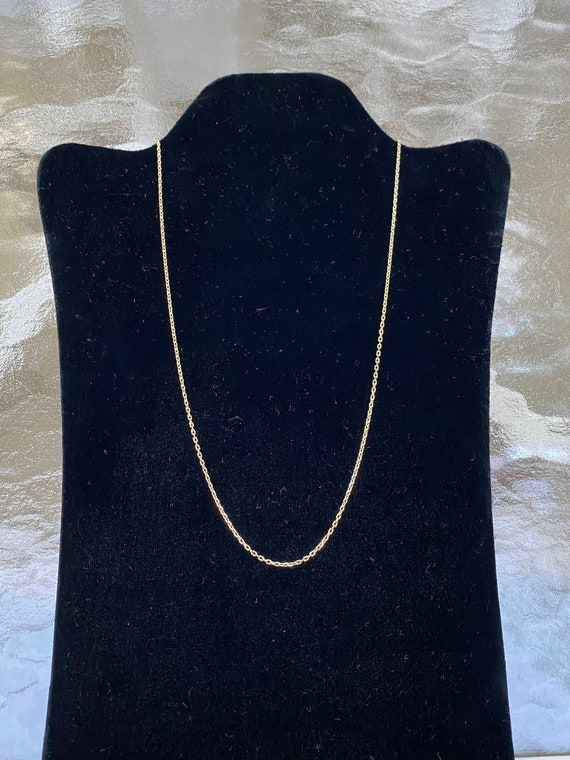 14K GREEN GOLD Rolo Chain Vintage