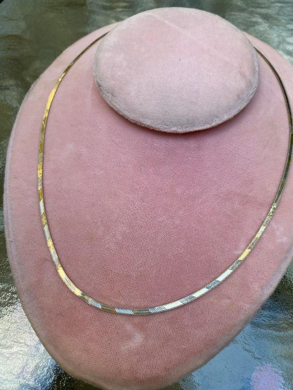SOLD 14k Herringbone Chain Necklace