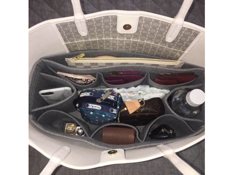 39b49425afeac Tory Burch Gemini Link tote bag organizer felt bag organizer