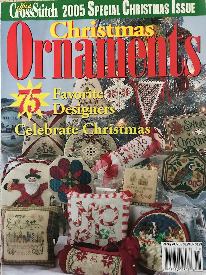 Just Cross Stitch Christmas Ornaments 2005