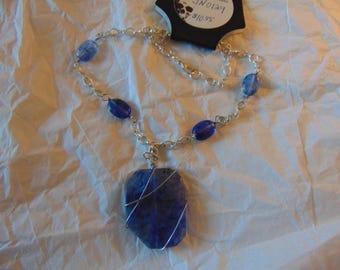 Blue Wrap Necklace