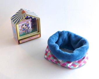 Snood, tour de cou, col pour bébé 12-24 mois, coton écailles rose bleu  rouge et douillette ultra douce et chaude bleu   cadeau bébé hiver d41baea9c56