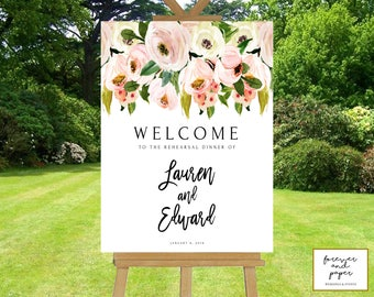 Rehearsal Dinner Decorations Rehearsal Dinner Sign Welcome Sign For Rehearsal Dinner Rehearsal Dinner Decor Wedding Rehearsal Decorations