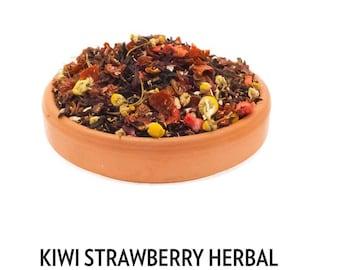 Kiwi Strawberry Herbal Tea, Loose Leaf Tea, Herbal Tea, Tea.