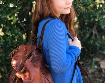 Vintage Vera Pelle Leather Backpack