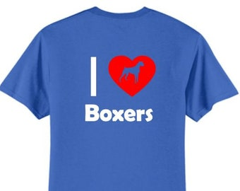 Dogs - I Love Boxers T-Shirt