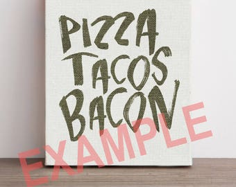 Pizza Tacos Bacon Vector File - JPG AI SVG - Clipart - Vinyl - Cricut - Silhouette Cameo - Home Cutting Systems