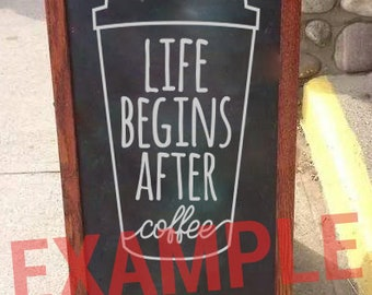 Life Begins After Coffee SVG Vector