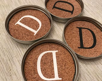 Personalized Mason Jar Coasters