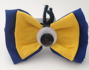 Minion Inspired Bow / Cosplay Accessories / Costume Accessories / Fabric Hair Bows / Bows for Children / Bows for Adults